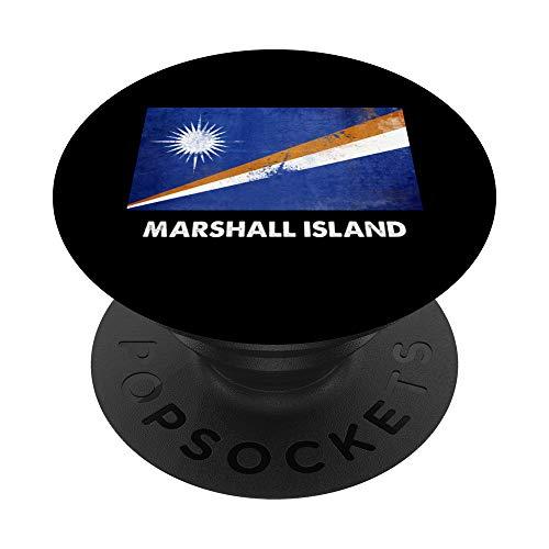 Bandera de la Isla de Marshall PopSockets Agarre y Soporte para Teléfonos y Tabletas