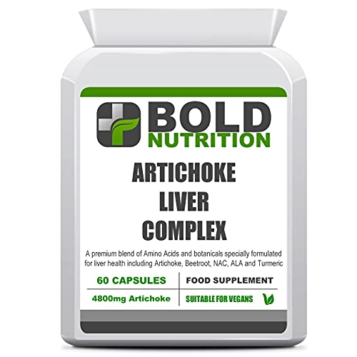 Bold Nutrition Artichoke Liver Complex | 60 Vegan Capsules | Liver and Gallbladder Detox, Cleanse and Support | Food Supplement Made in UK to GMP Quality Standards | Suitable for Vegetarians & Vegans