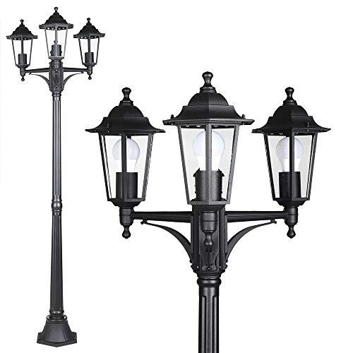 Monzana Farola de jardín luz iluminación de Patio terraza Exterior Willow Antracita Resistente 60W Ajustable 1760x530mm