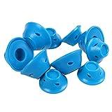 Fltaheroo 10 pz/set Morbida gomma magica per capelli rulli di capelli bigodino di capelli in silicone senza strumento di styling dei capelli di calore blu
