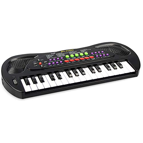 aPerfectLife Kids Keyboard Piano, 32 Keys Multifunction Electric Keyboard Piano for Kids, Kids Piano Musical Instruments Gift Toy for 3 4 5 6 7 8 Year Old Boys and Girls (Black)