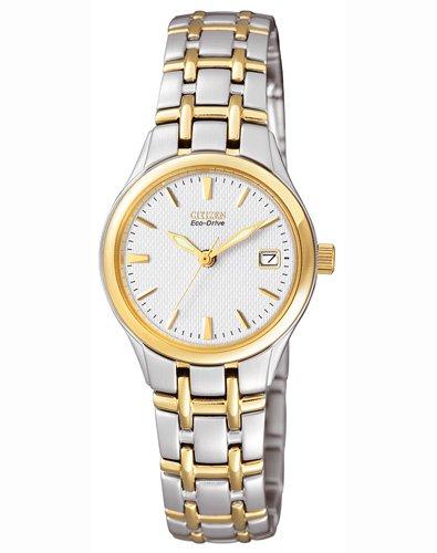 Citizen dames analoog kwarts horloge met roestvrij staal gecoate armband EW1264-50a