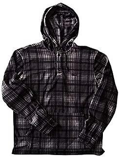 Men's Furnace Anorak Polar Fleece Flannel Shirt Pewter Large