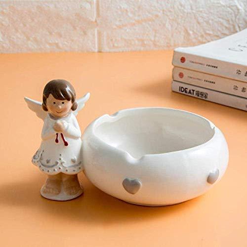 LIZANAN Decoración Arte Decoraciones Artesanía Cenicero Linda Chica Creativa hogar Personalidad salón...