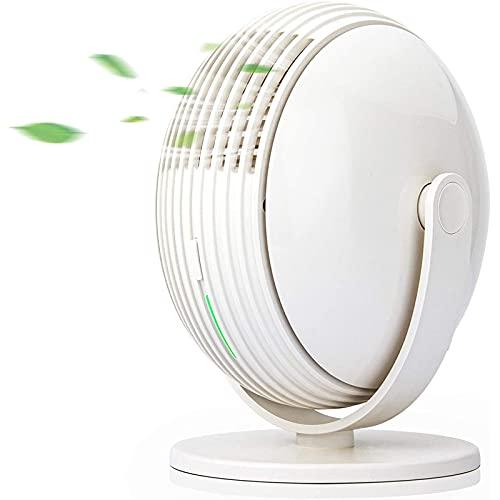 ZLZNX Ventilador portátil sin aspas, Ventilador Recargable USB portátil, Ventilador de Sobremesa para el Dormitorio de la Oficina,Blanco