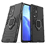 Ytaland for Oppo Find X3 Neo Case, Rotating Ring [Magnetic