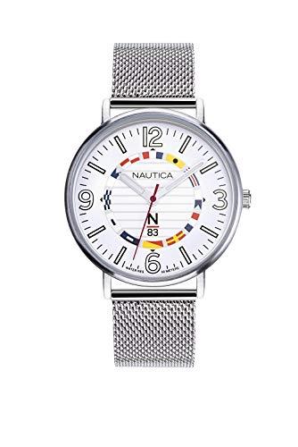 Nautica Reloj Analógico para Hombre de Cuarzo con Correa en Acero Inoxidable NAPWGS905