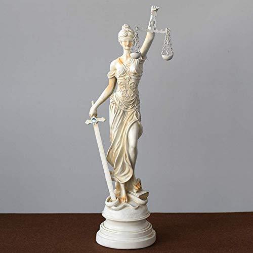 JJDSN Estatua de la Justicia de la Dama con los Ojos vendados, Escultura de Ley, Resina de Primera Calidad, Figura Coleccionable de Grado de Museo para Regalo de Abogado de la Oficina de Abogados,