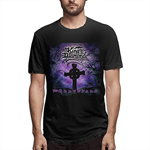 Fournyaa Ki-Ng Di-Amond Men Classic Breathable Crew T Shirt Music Short Sleeve Tee Man Casual Blouse Black