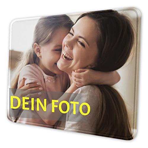 Foto-Mauspad personalisierte Bedruckte Mausmatte, Schreibtischunterlage, rutschfestes Mousepad auf Gummibasis für Laptop, Computer & PC, personalisiertes Fotogeschenk für Geburtstag Muttertag 26x21cm