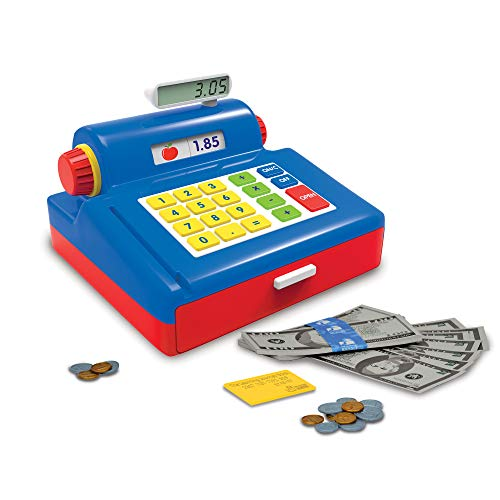 The Learning Journey Play & Learn Cash Register - Includes Play Money, Bills, Coins and Credit Card