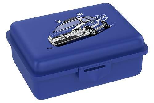 Fizzii Lunchbox (Inkl. Obst-/ Gemüsefach, schadstofffrei, spülmaschinenfest, Motiv: Polizei)