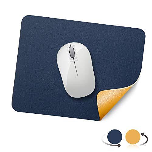 AtailorBird Mauspad, Office Mauspad(270 * 210 * 2mm), rutschfeste Mousepad doppelte Farbe wasserdicht PU Leder Matte für PC, Computer und Laptop - Blau Gelb
