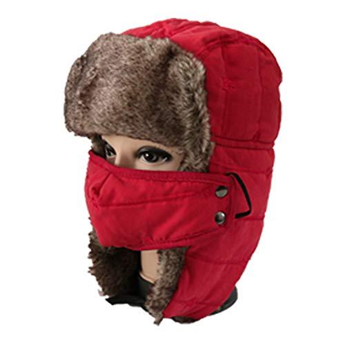 MALPYQ Outdoor jongen herfst en winter warm oor bescherming winddichte cap perzik huid kinderen ski masker cap