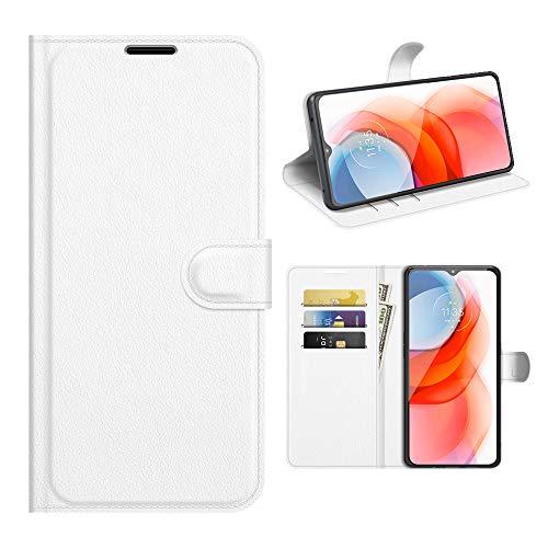 SHHIIA UMIDIGI S5 Pro - Funda tipo cartera de piel sintética de alta calidad, estilo moderno, carcasa interior de TPU a prueba de golpes, compatible con UMIDIGI S5 Pro, color blanco