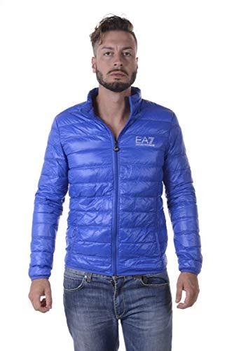 EA7 Emporio Armani Herren Lightweight Daunenjacke - Super leichte Jacke Übergangsjacke Steppjacke mit Daunenfüllung und Stehkragen, Farbe:Blau;Größe:S