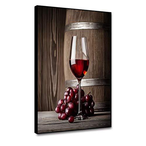 Leinwanddrucke Personalisierte Burlap Home Decoration Rotwein Einfache Lagerung und Portabilität personalisierte Bild Hintergrund Wanddekorationen Leinwand für Hauptdekoration