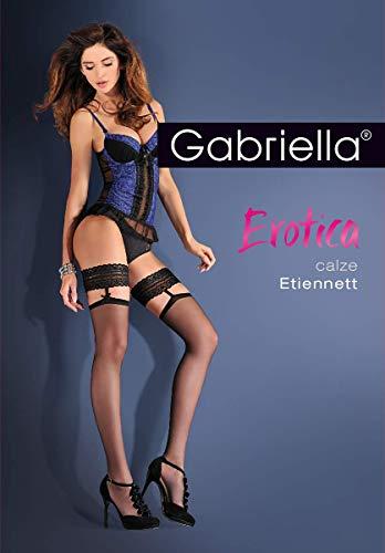 Gabriella Damen Halterlose Strümpfe Calze Etiennett | 20 DEN | GRÖßE S/M | RED
