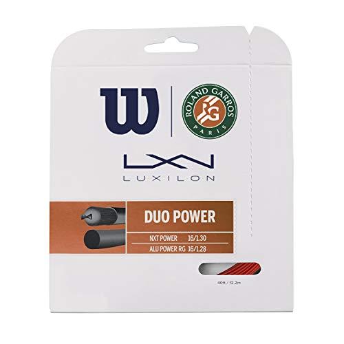 Wilson Unisex-Adult Duo Power Roland Garros Tennissaite, Bronze/Natural, 16G