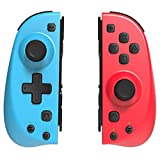 TUTUO Wireless Controller for Nintendo Switch/Switch Lite,Bluetooth Switch Joycon Can Replace Joy-Con Controller Replacement and Compatible with Nintendo Switch Console(Red/Blue)