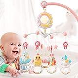 Prosper Baby Musical - Cama infantil móvil con luces y música, función de proyección y luz nocturna, sonajero giratorio y melodías, juguete musical para recién nacidos