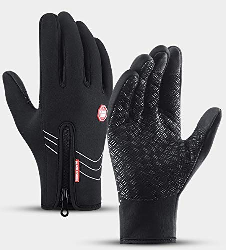 Winter Cycling Gloves Touch Screen Running Warm Driving Texting Workout Training Builder Full Finger