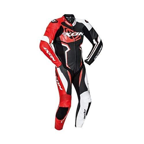 Ixon Falcon negro blanco rojo traje moto