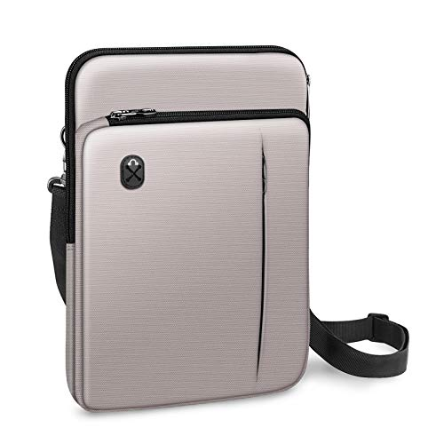 FINPAC 12.9-13 Inch Tablet Laptop Sleeve Case, Briefcase Shoulder Bag for 12.9\' iPad Pro 2018-2020 / MacBook Air 13 2018-2020 / MacBook Pro 13 2016-2020 / Surface Laptop Go/Surface Pro X/7/6/5-Gray
