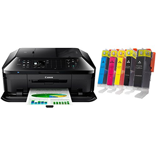 Canon PIXMA MX922 Wireless Inkjet Office All-in-One Printer Bundle with MPI Compatible Canon PGI-250XL/CLI-251XL Bundle, CMYK and Photo Black