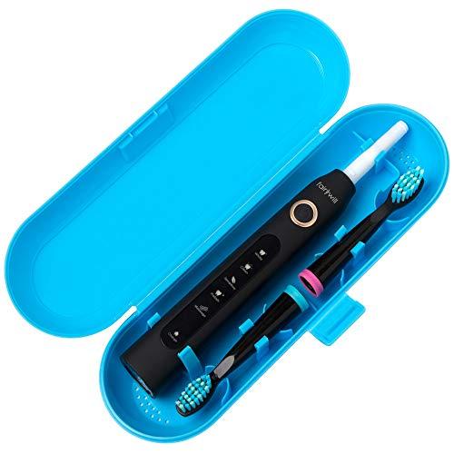 Estuche de viaje de plástico con cepillo de dientes eléctrico para la...