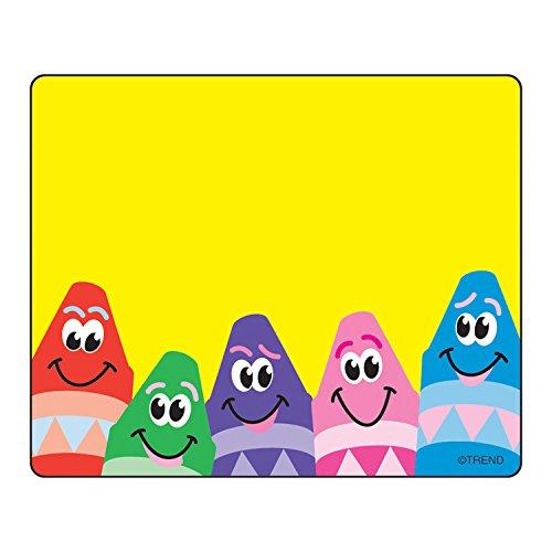 TREND enterprises, Inc. T-68013BN Colorful Crayons Terrific Labels, 36 Per Pack, 12 Packs