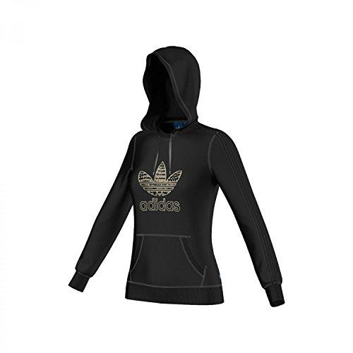 adidas Hoodie Originals Slim - Sudadera con Capucha para Mujer, Color Negro, Talla de: 42