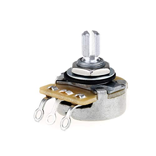 CTS 450 Series A250K Potenciómetro de audio de olla de eje dividido para bajo de guitarra eléctrica, 10% de tolerancia