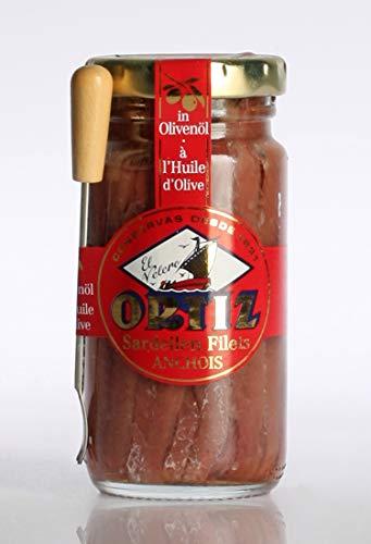 Ortiz Sardellen Filets (Anchovis) in Olivenöl, (95g) 3,3 oz