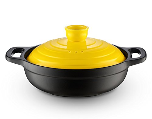 HGNsg Pots Kleine Braadpan Claypot Rijst Hittebestendige Droog Pot Keramische Stoofpot Pot Stoofpot Koreaanse Wok Restaurant Wok Stoofpot Gele Stoofpot Kip 0,9L Braadpan gerechten