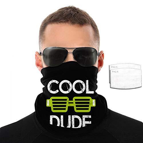 Cool Dude Handtuch für Damen und Herren, winddicht, atmungsaktiv Einheitsgröße mit 2 Filtern