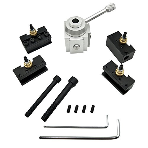 KKmoon Mini CNC Werkzeug Schnellwechselsystem, Werkzeughalterung der Drehung, Post Cutter, Halte-Set für Schrauben, Set Bohrstange, Schlüsselhalterung