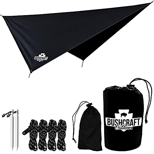 Amaca Rain Fly Tarp per zaino in spalla, escursionismo, campeggio e all'aperto, impermeabile, leggero, facile da usare, parasole multifunzione, copertura antipioggia, copertura a baldacchino