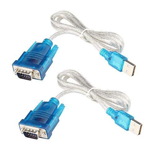 KKHMF 2個 HL-340 USB を シリアル コネクタ に 変換USB-RS232ポートシリアル9ピンDB9ケーブルアダプタ 「国内配送」