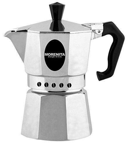 Aeternum 5971 Morenita Espressokocher aus Aluminium für 1 Tasse, silber