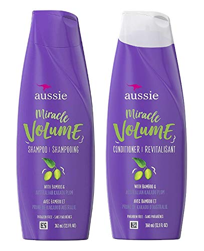 Miracle Volume Shampoo and Conditioner with Bamboo and Kakadu Plum 12.1 fl oz each