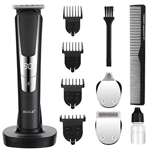 Haarschneidemaschine Profi Haarschneider Bartschneider Herren Elektrisch Haarschneider 3 in 1 Multi Grooming Bodygroomer Kit USB aufladbar LED Display