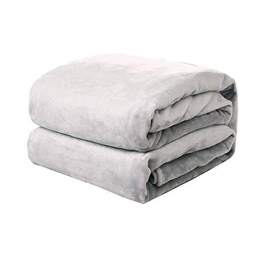 Houehold sprei van dik pluche, goudkleurig, warm, zacht gevoerd, super pluizig, geschikt voor vaste dekens binnen en buiten.