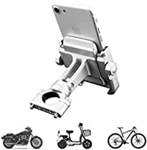 vicelecus Motorcycle Phone Mount, Adjustable Anti Shake Metal Bike Phone Holder for iPhone X/8/7/6 Plus Samsung Galaxy S9/S8/S7/S6 GPS, Holds Devices up to 3.7