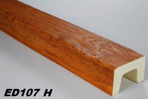 2 Meter | Balken | PU | Holzoptik | Deco Wood | 90x60mm | ED107.H