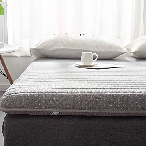 Thick Lattice Materasso pieghevole,Coprimaterasso tatami Lattice Pieghevoli Stuoia del pavimento di dormire materasso Futon giapponese Materasso tatami-grigio 120x190cm(47x75inch)120x190cm(47x75inch)
