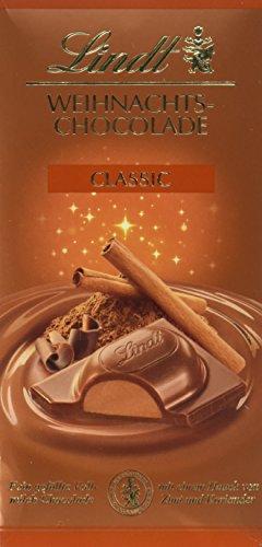 Lindt & Sprüngli Weihnachts-Schokolade, 4er Pack (4 x 100 g)