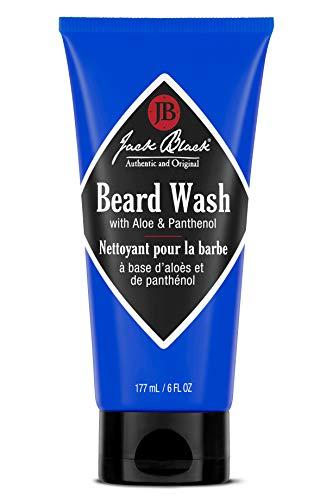 Jack Black - Beard Wash, 6 fl oz - PureScience Formula, Aloe & Panthenol, Multifunctional Beard Treatment, Softens Facial Hair, Removes Oil and Dirt, Conditions Facial Hair and Skin