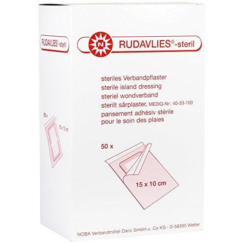 Noba Rudavlies, steriles Verbandpflaster, Wundverband, Pflaster, 15x10cm, 50 St