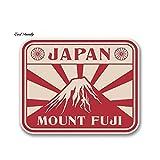 A/X 13 cm x 12 cm Estilo de Coche Pegatina de Coche Japón Monte Fuji Vinilo Pegatina portátil Casco Bicicleta